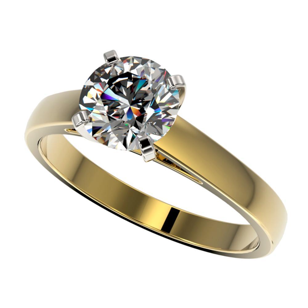 1.55 ctw H-SI/I Diamond Ring 10K Yellow Gold - REF-339Y2X - SKU:36547