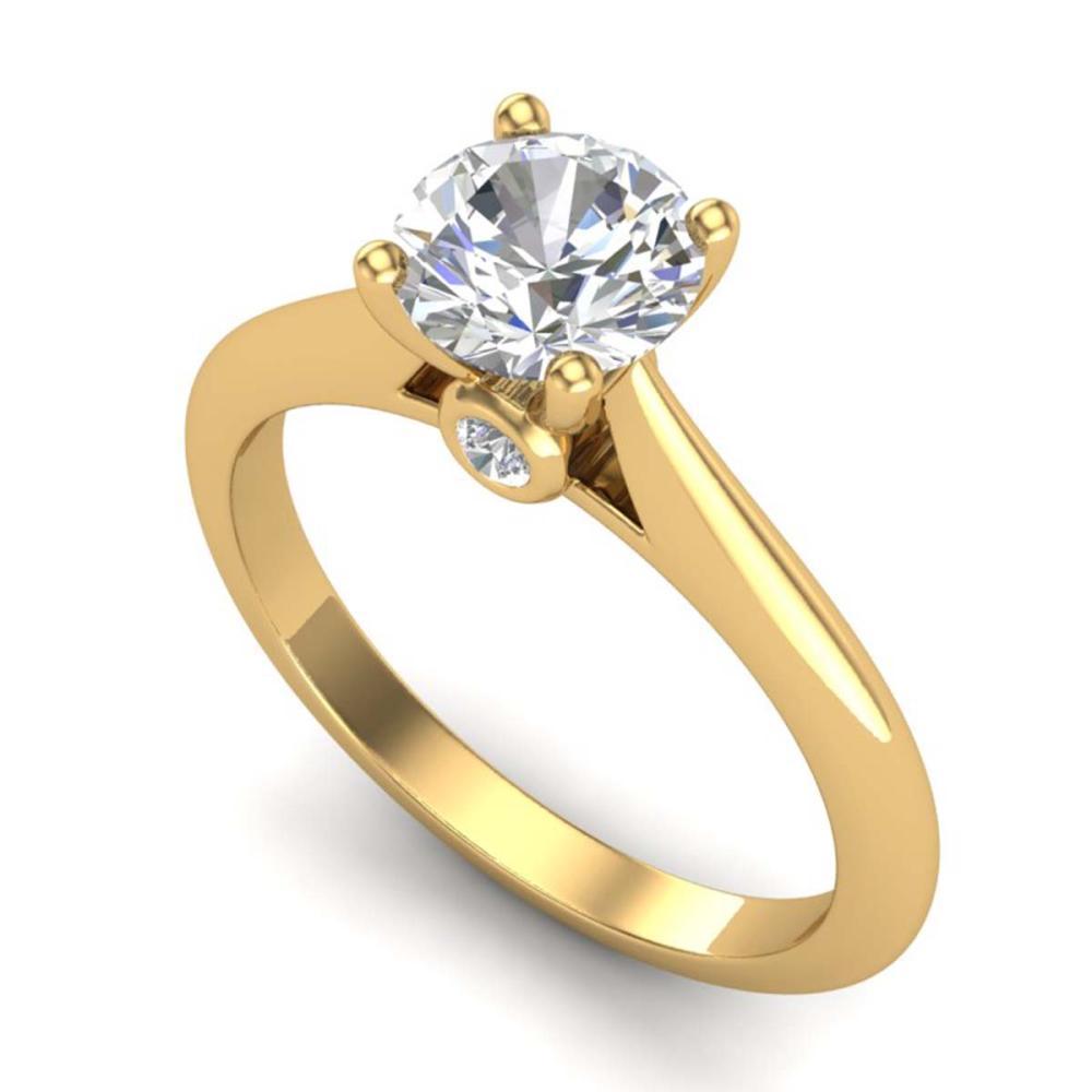 1.08 ctw VS/SI Diamond Solitaire Art Deco Ring 18K Yellow Gold - REF-361X8R - SKU:37288