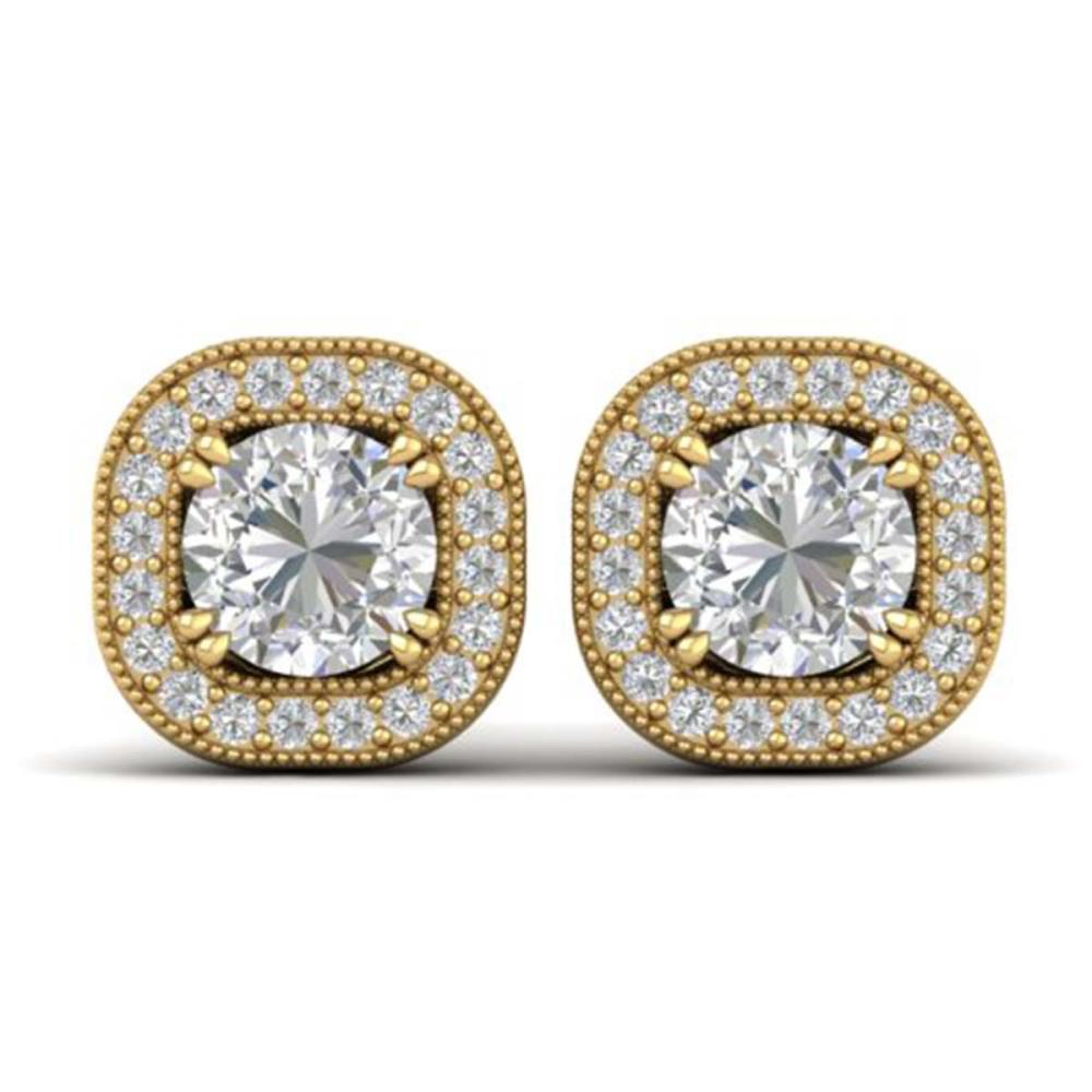 1.35 ctw VS/SI Diamond Stud Earrings 14K Yellow Gold - REF-177Y3X - SKU:30434