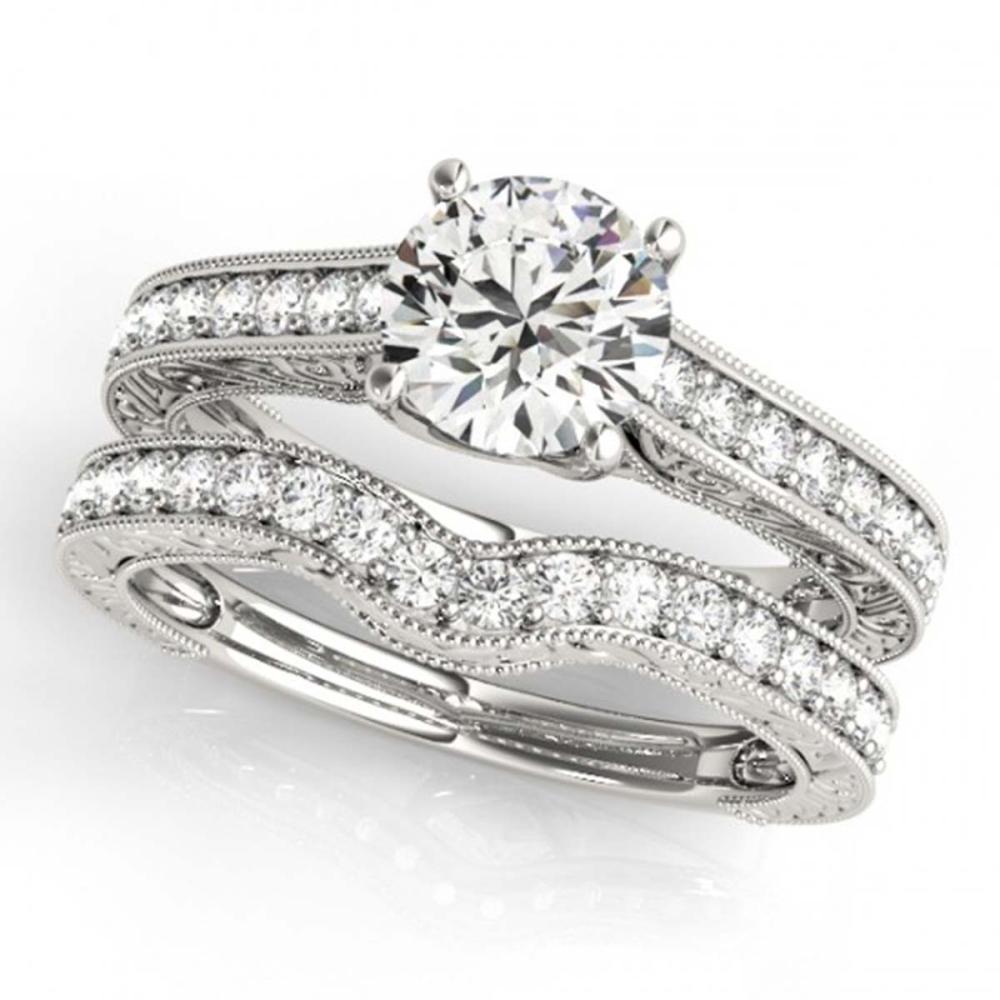 2.17 ctw VS/SI Diamond 2pc Wedding Set 14K White Gold - REF-509H4M - SKU:31673