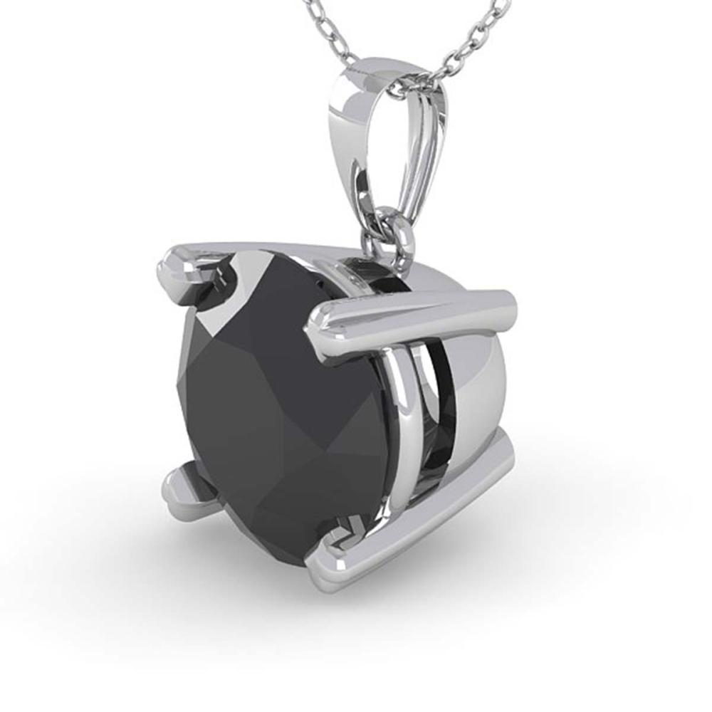 1.50 ctw Black Diamond Necklace 18K White Gold - REF-50V7Y - SKU:32361