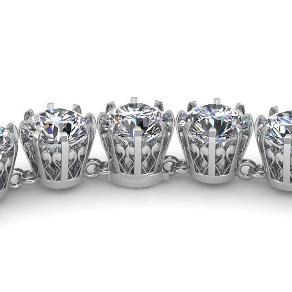 30 ctw SI Diamond Necklace 18K White Gold - REF-4830A2V - SKU:35790
