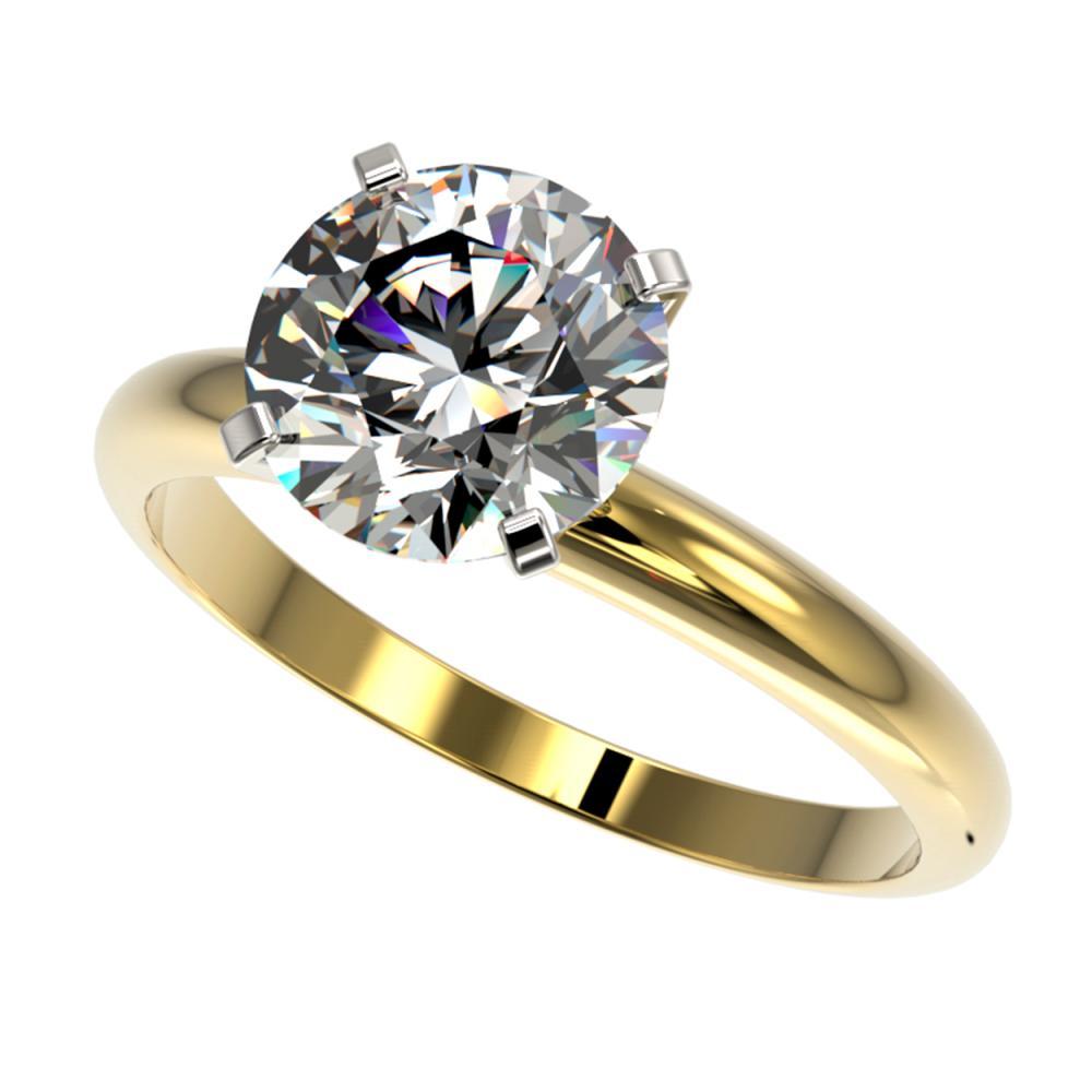 2.50 ctw H-SI/I Diamond Ring 10K Yellow Gold - REF-870R2K - SKU:32944