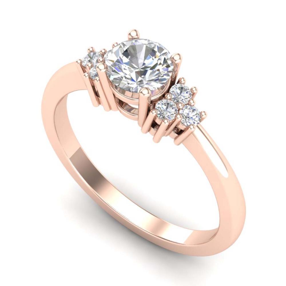 0.75 ctw VS/SI Diamond Ring 18K Rose Gold - REF-131F3N - SKU:36933
