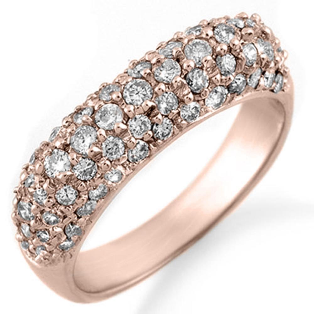 1.25 ctw VS/SI Diamond Ring 14K Rose Gold - REF-105A5V - SKU:10554