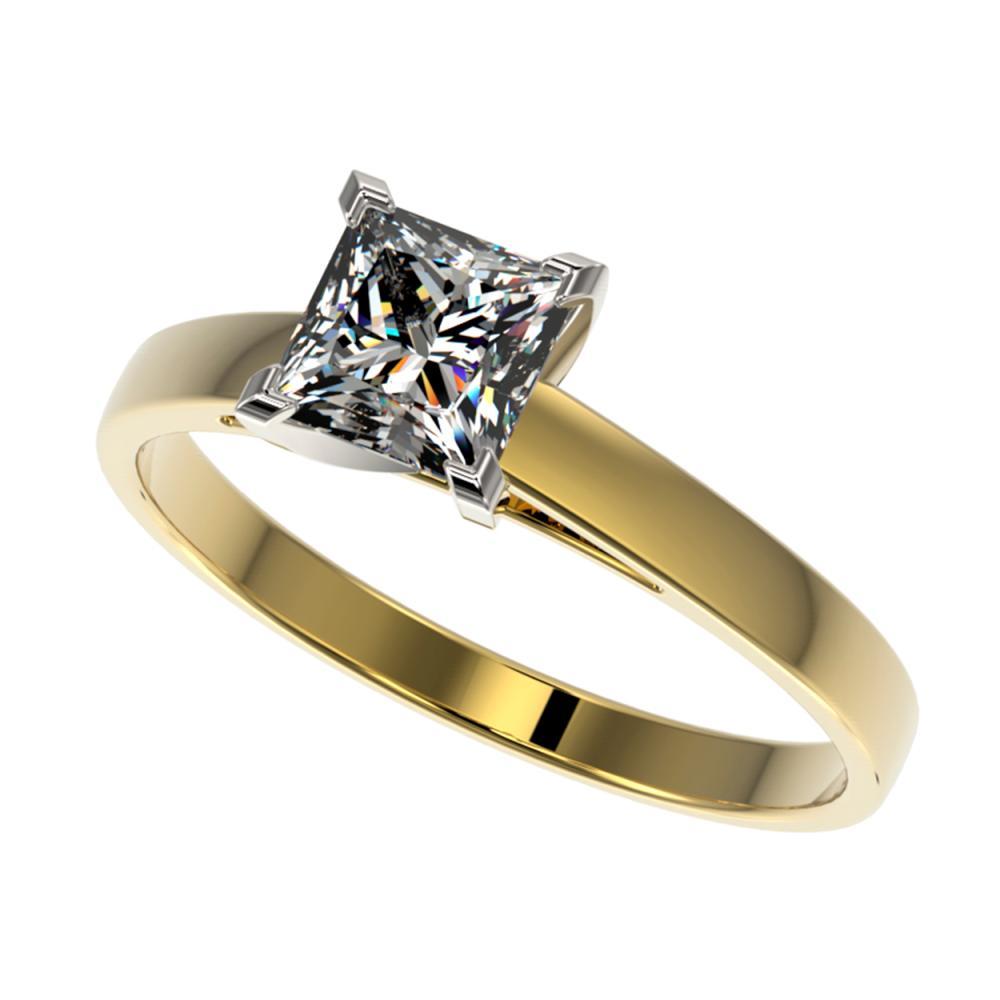 1 ctw VS/SI Princess Diamond Ring 10K Yellow Gold - REF-297X2R - SKU:32996