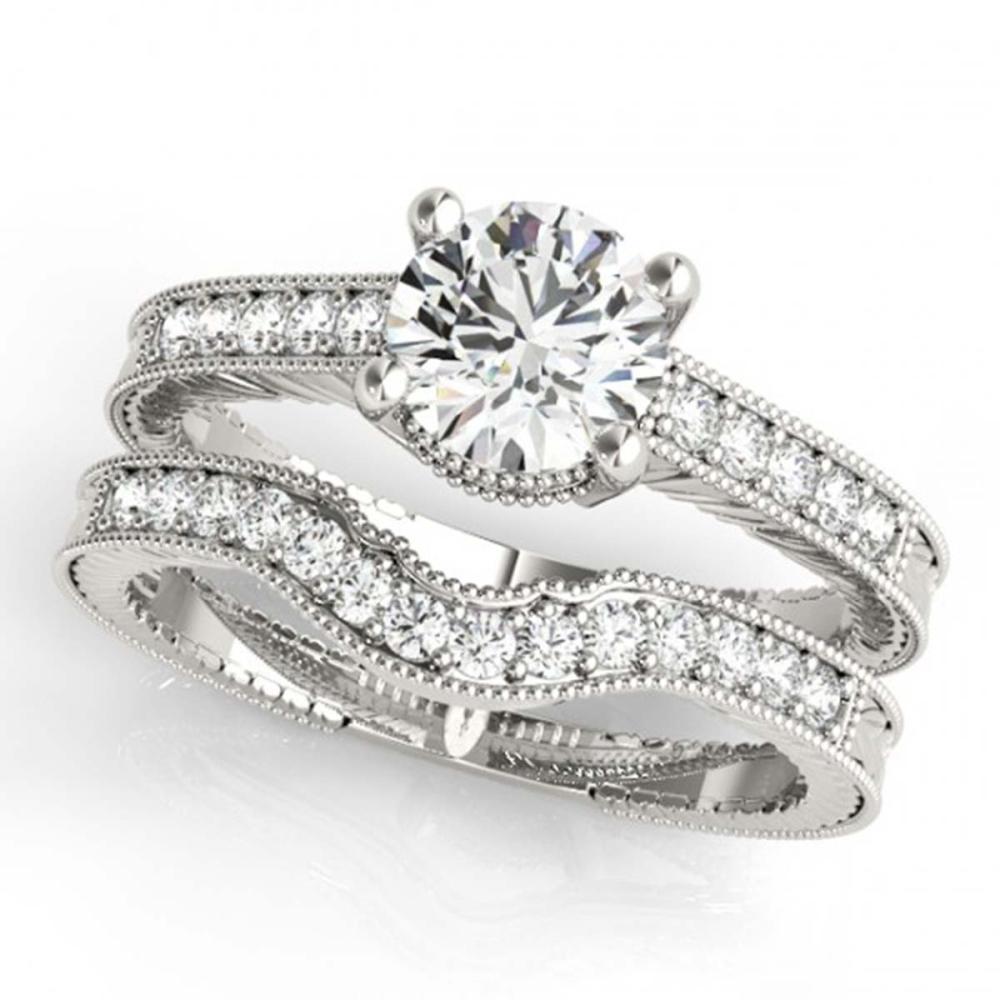 1.24 ctw VS/SI Diamond 2pc Wedding Set 14K White Gold - REF-167H9M - SKU:31535