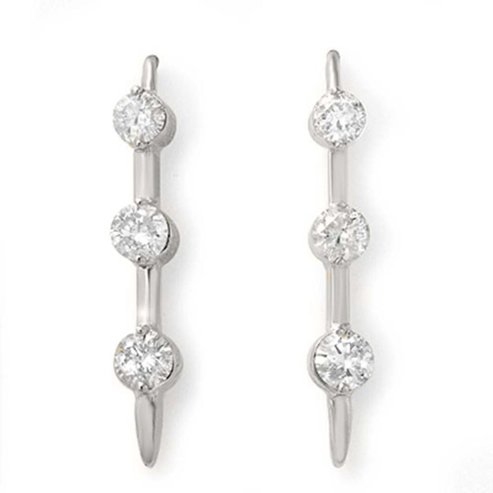 0.50 ctw VS/SI Diamond Stud Earrings 18K White Gold - REF-80X4R - SKU:12791