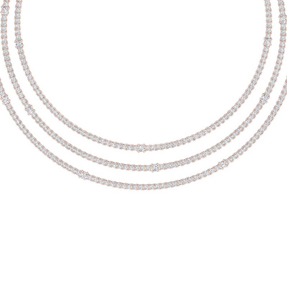 30 ctw VS/SI Diamond Necklace 18K Rose Gold - REF-2220Y2X - SKU:39981