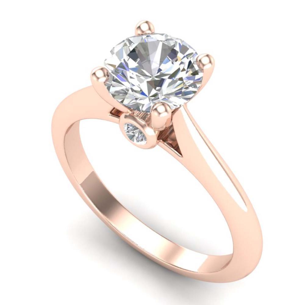 1.60 ctw VS/SI Diamond Art Deco Ring 18K Rose Gold - REF-555F2N - SKU:37293