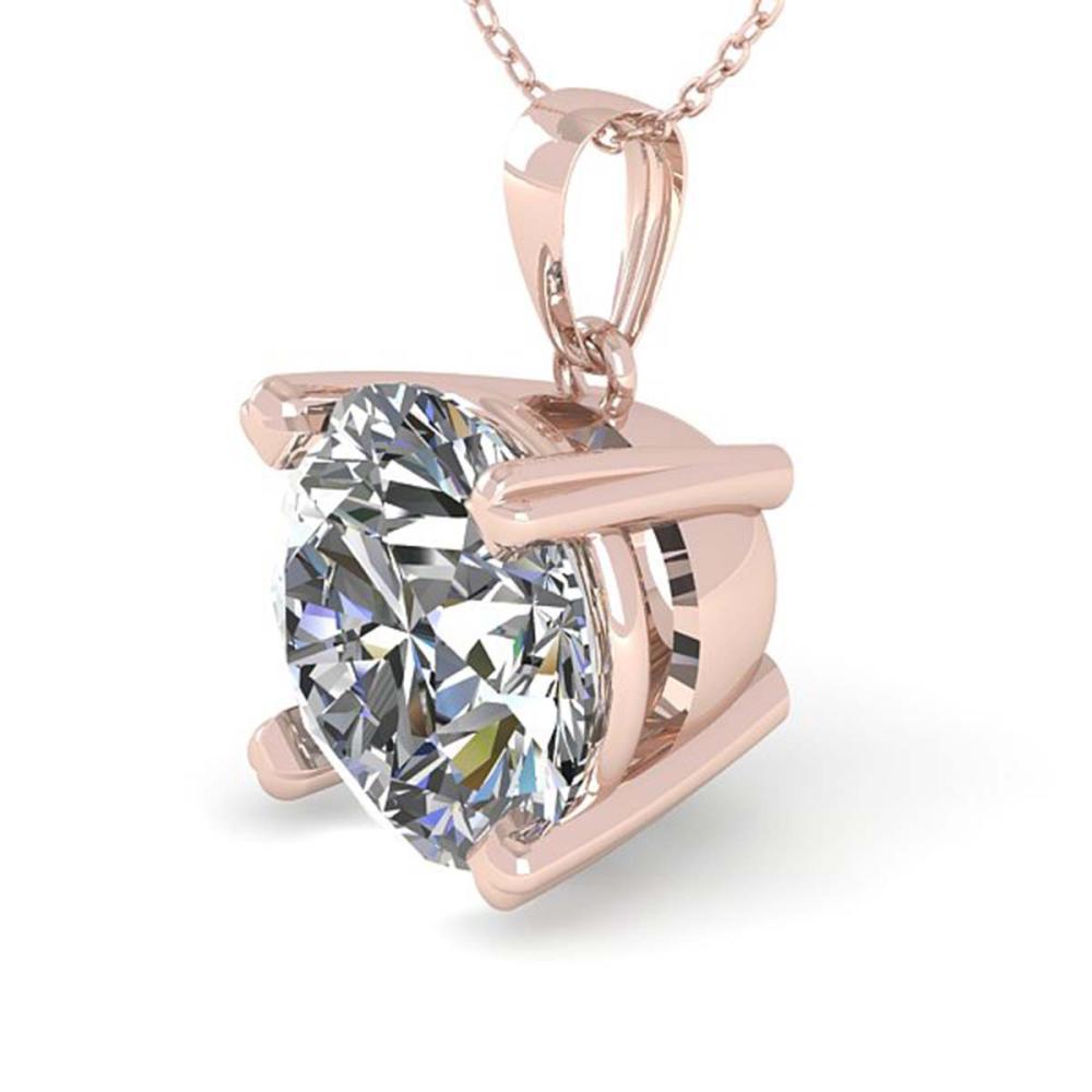 1.50 ctw VS/SI Diamond Necklace 14K Rose Gold - REF-513W3H - SKU:38421