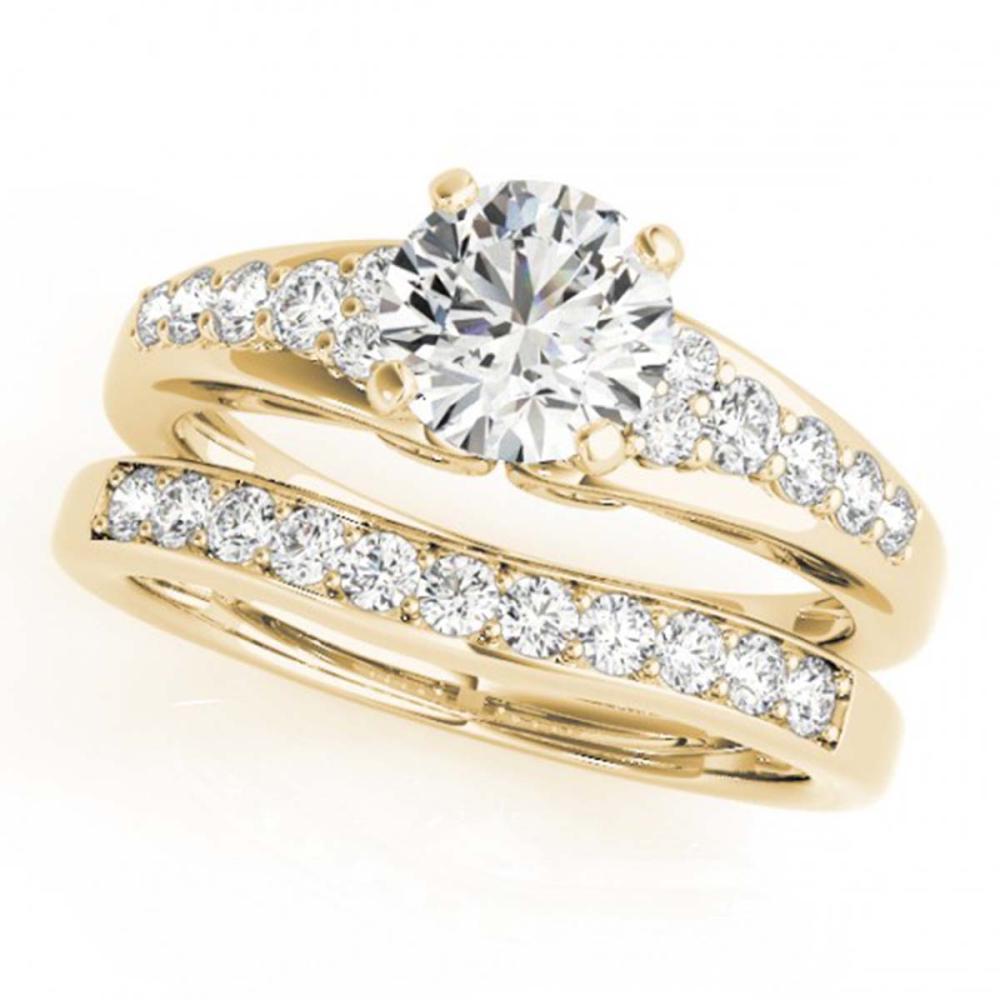 1.50 ctw VS/SI Diamond 2pc Wedding Set 14K Yellow Gold - REF-168K8W - SKU:31720