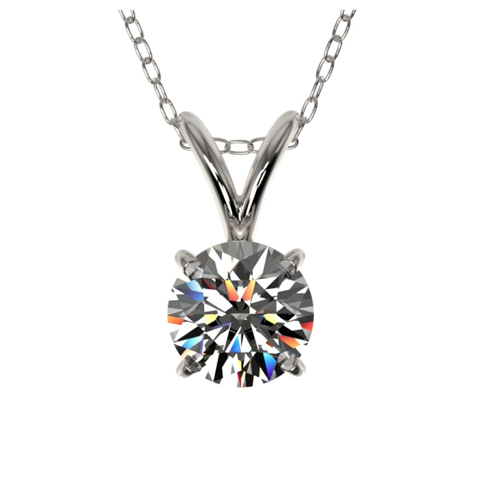 0.55 ctw H-SI/I Diamond Solitaire Necklace 10K White Gold - REF-58X5R - SKU:36723