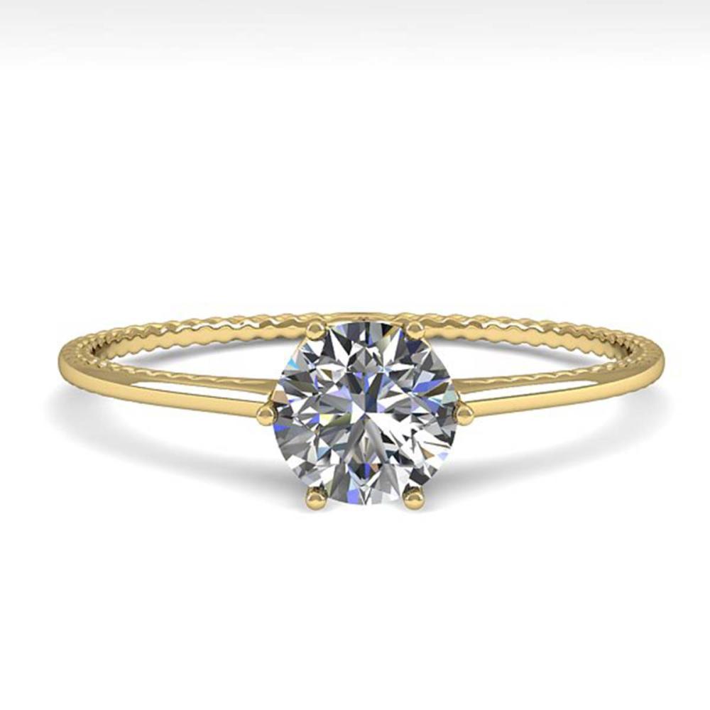 0.51 ctw VS/SI Diamond Ring 18K Yellow Gold - REF-96W2H - SKU:35884