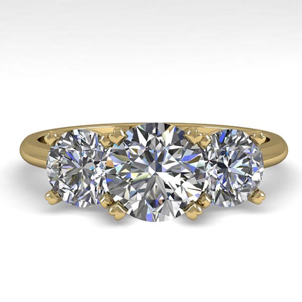 2 ctw VS/SI Diamond Past Present Future Ring 18K Yellow Gold - REF-407F3N - SKU:32464