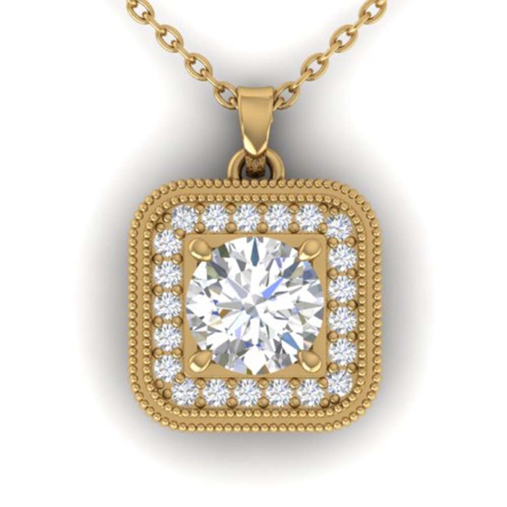 1.32 ctw VS/SI Diamond Art Deco Necklace 14K Yellow Gold - REF-193H3M - SKU:30503