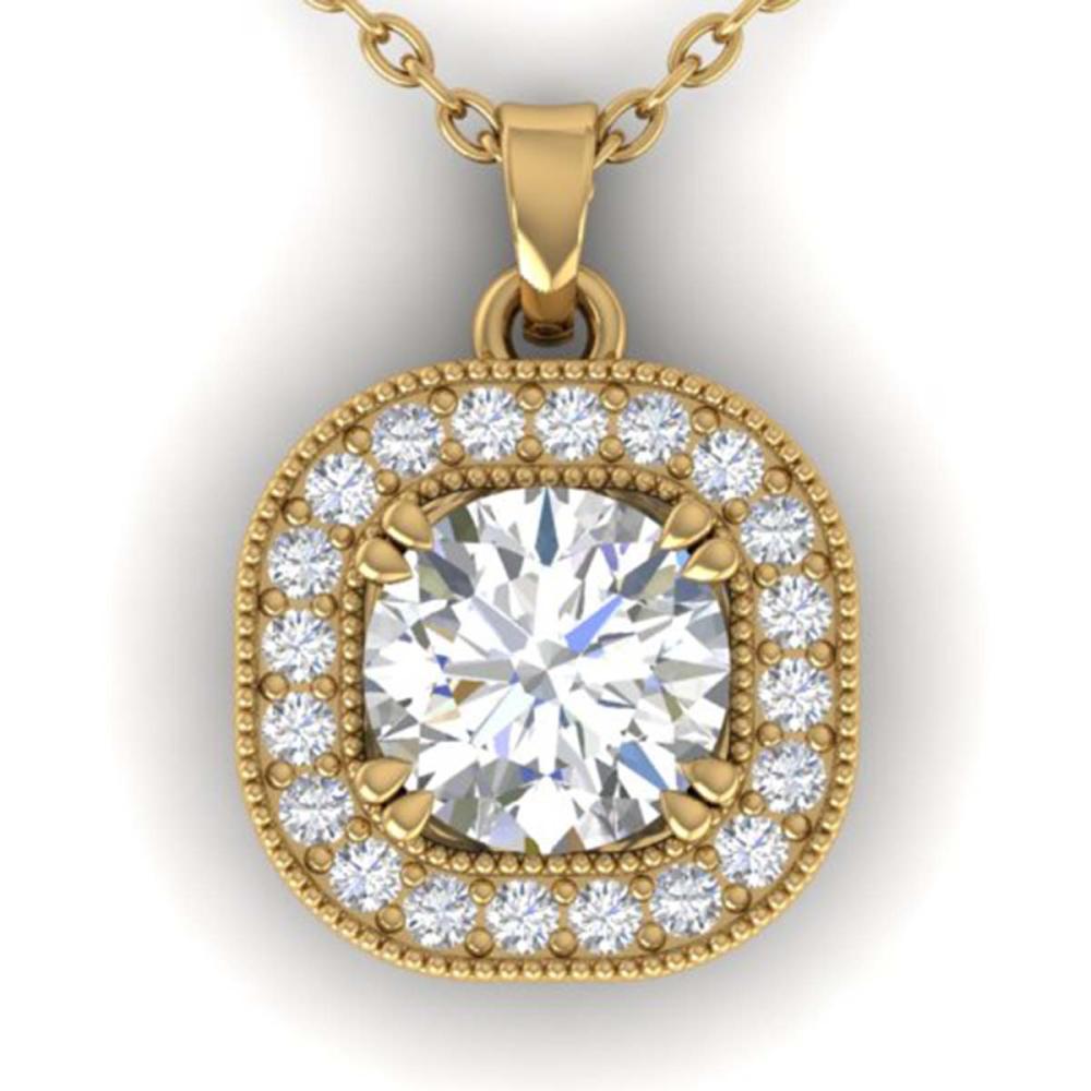 1.02 ctw VS/SI Diamond Stud Necklace 14K Yellow Gold - REF-173X6R - SKU:30437