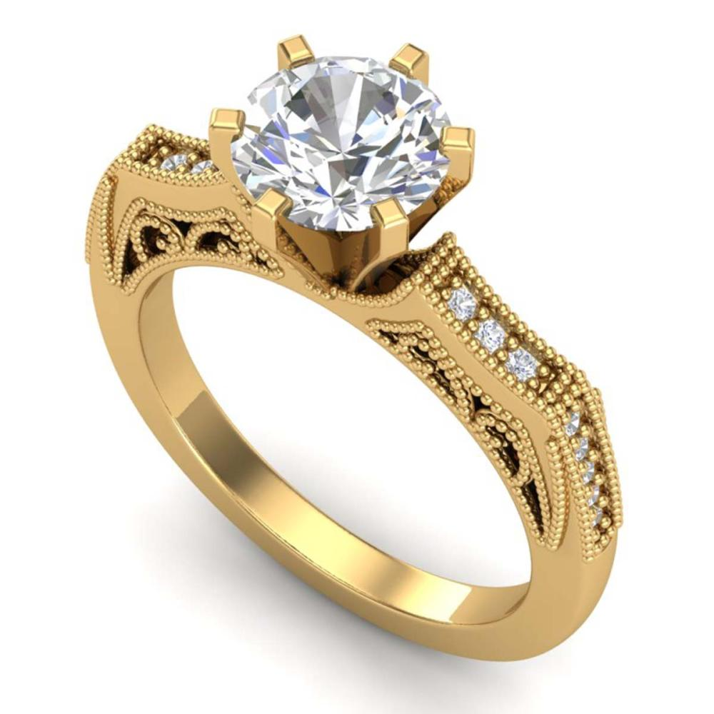 1.51 ctw VS/SI Diamond Solitaire Art Deco Ring 18K Yellow Gold - REF-536W4H - SKU:37078