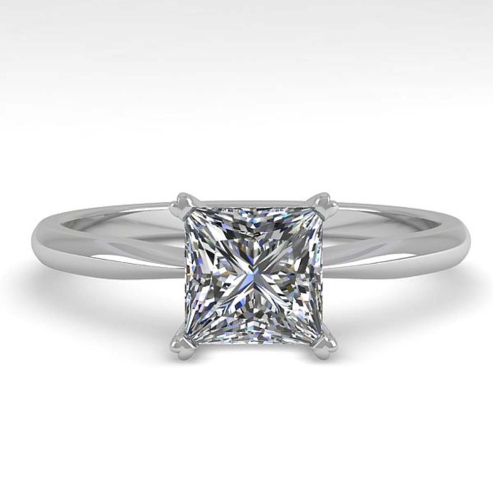 1.01 ctw VS/SI Princess Cut Diamond Ring 18K White Gold - REF-285A2V - SKU:32418
