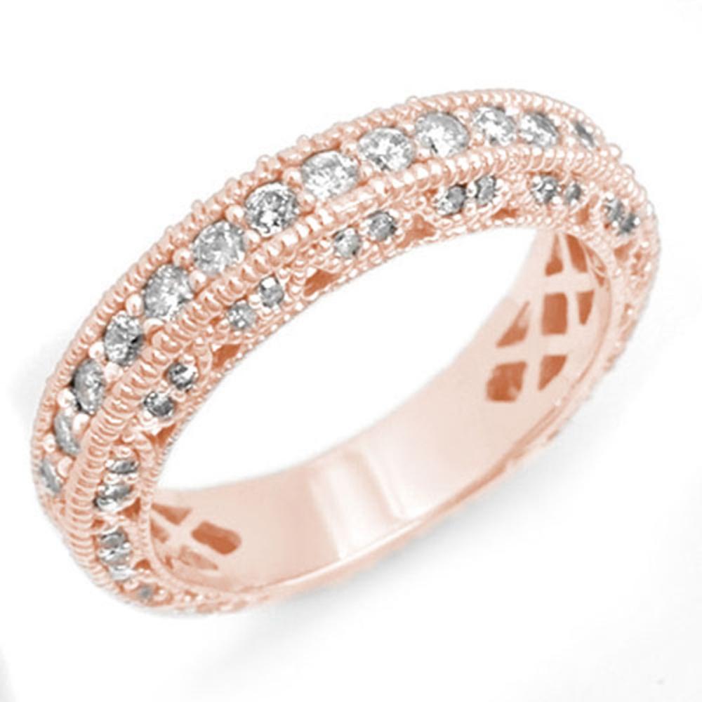 1.10 ctw VS/SI Diamond Band 14K Rose Gold - REF-102Y7X - SKU:14312