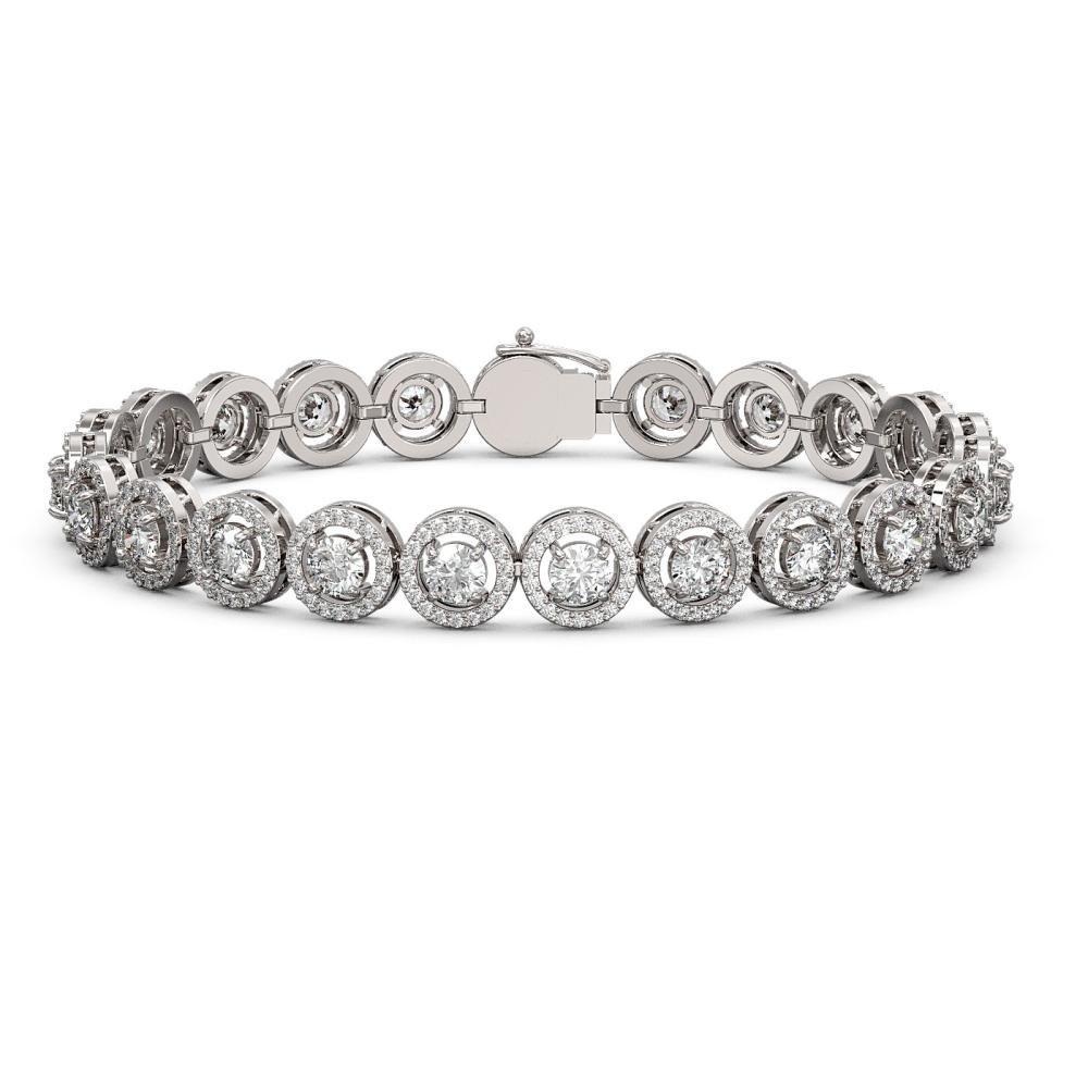 10.39 ctw Diamond Bracelet 18K White Gold - REF-787M8F - SKU:42995