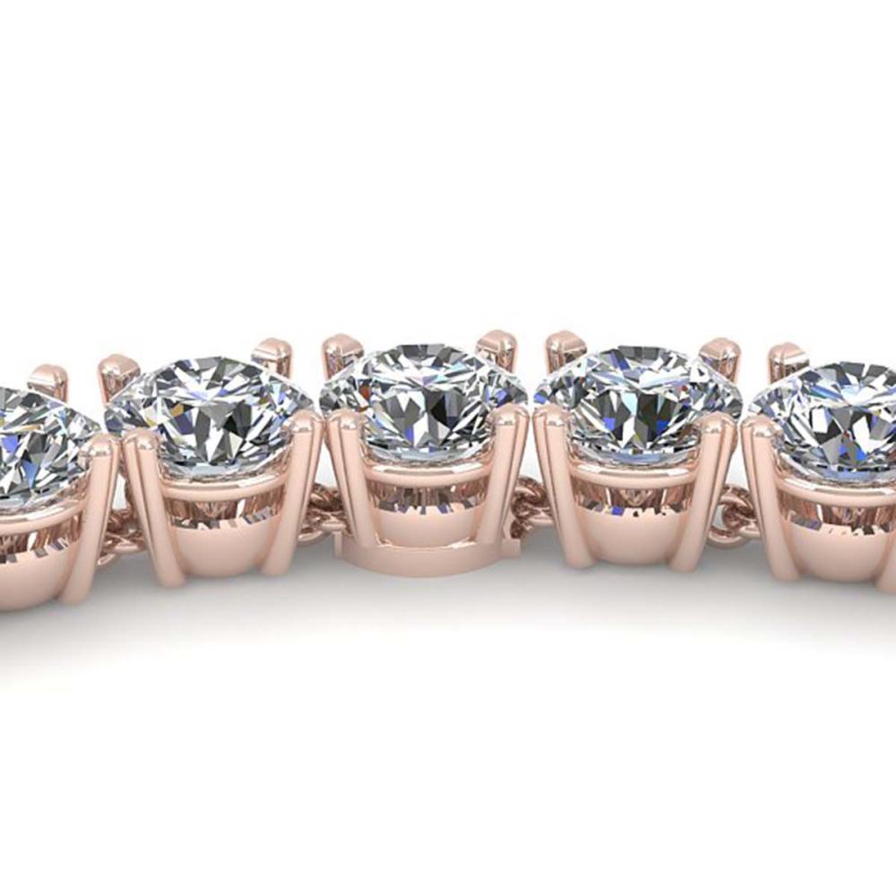 38 ctw SI Diamond Necklace 18K Rose Gold - REF-5910K2W - SKU:32483