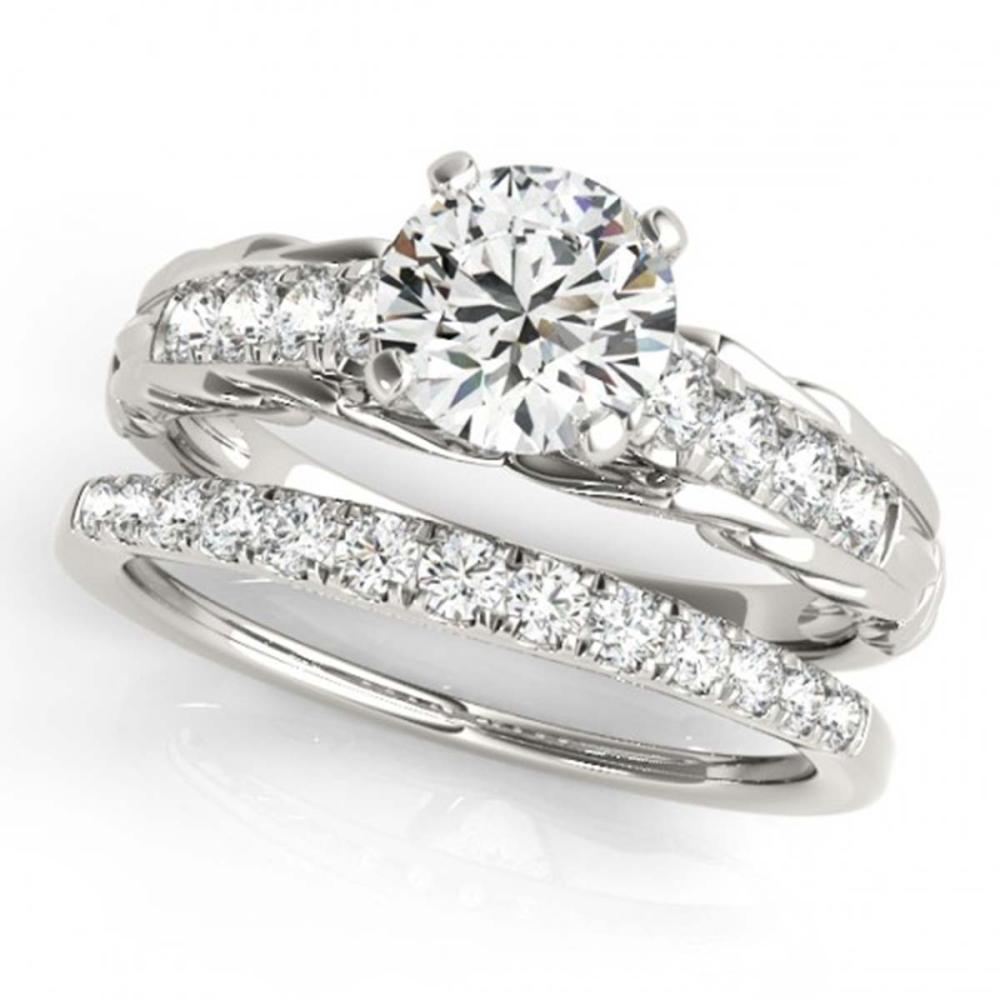 1.04 ctw VS/SI Diamond 2pc Wedding Set 14K White Gold - REF-150W3H - SKU:31646