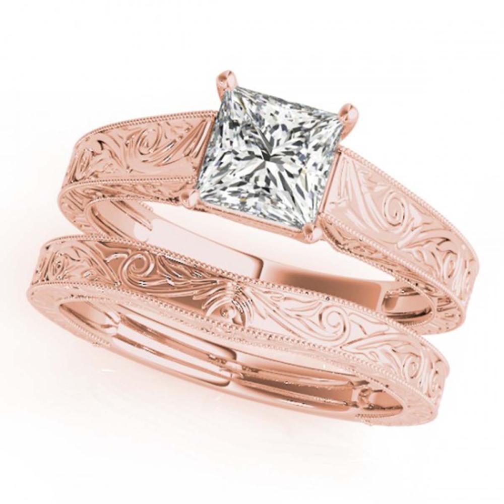 0.75 ctw VS/SI Princess Diamond 2pc Wedding Set 14K Rose Gold - REF-155Y6X - SKU:32082