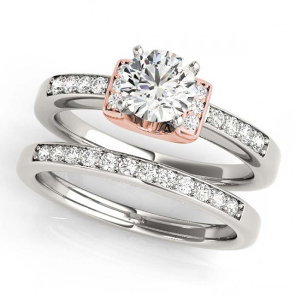 1.01 ctw VS/SI Diamond Solitaire 2pc Set 14K White & Rose Gold - REF-149W4H - SKU:31591