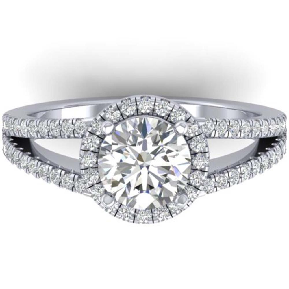 2 ctw VS/SI Diamond Solitaire Halo Ring 14K White Gold - REF-448N2A - SKU:30378