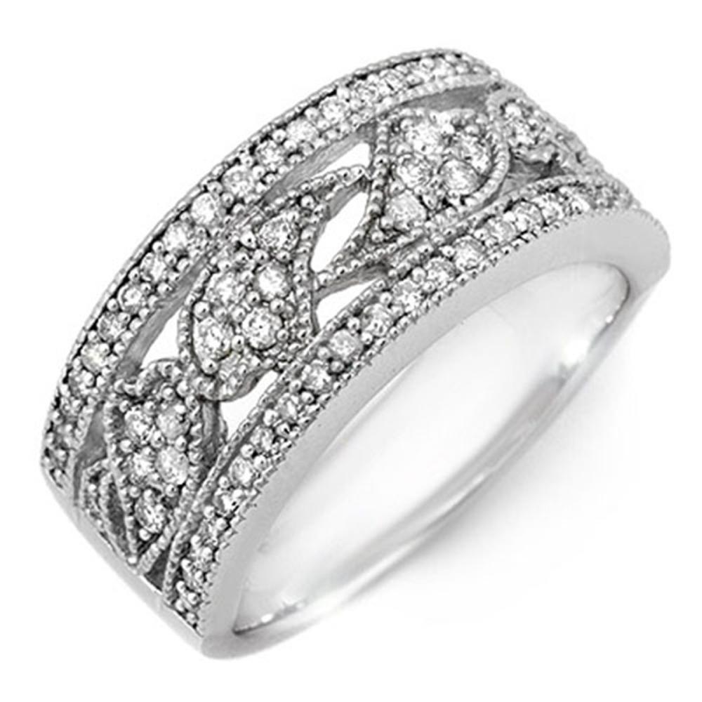 0.75 ctw VS/SI Diamond Ring 10K White Gold - REF-66Y7X - SKU:11526
