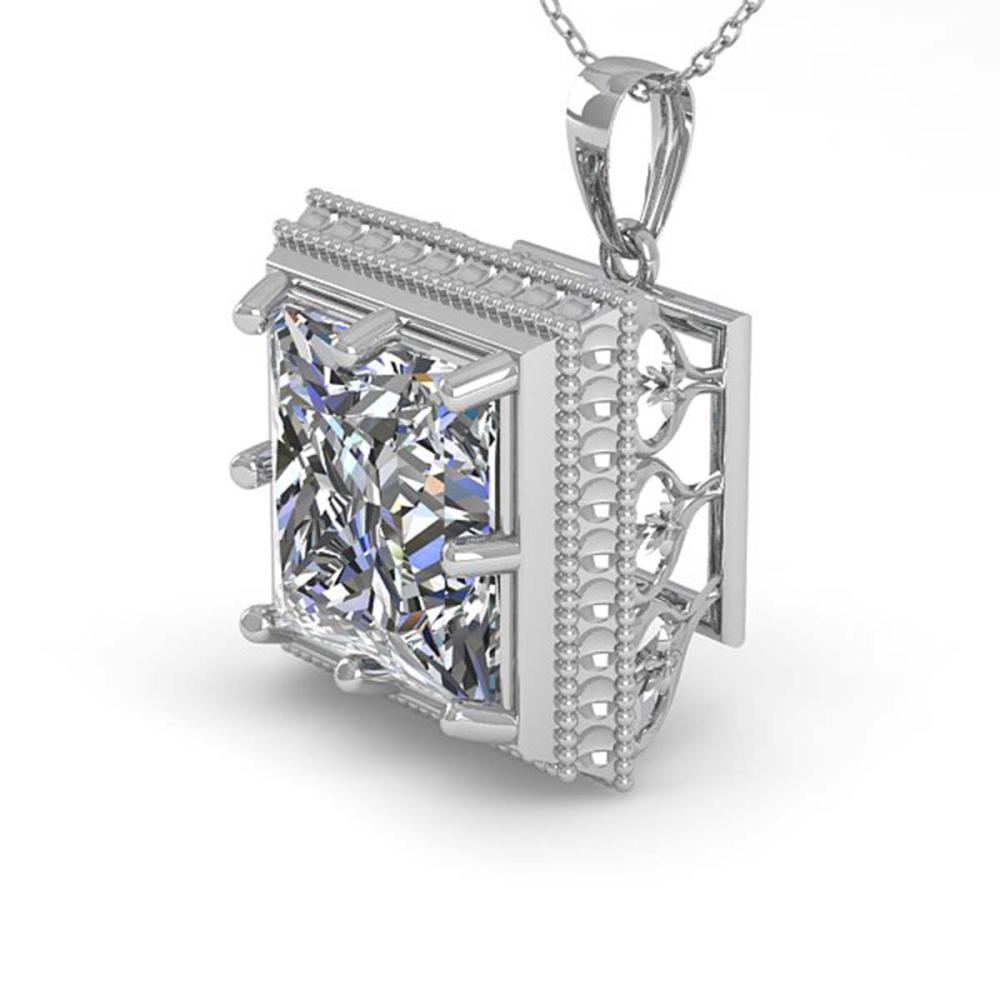 1 ctw VS/SI Princess Diamond Necklace 18K White Gold - REF-332H7M - SKU:36003