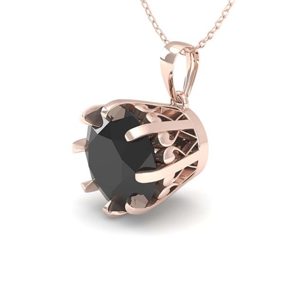 1.50 ctw Black Diamond Necklace 18K Rose Gold - REF-46R5K - SKU:35729