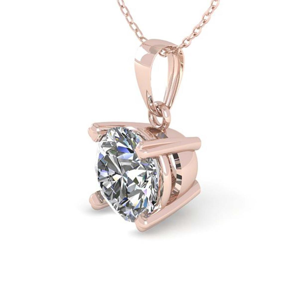 0.50 ctw VS/SI Diamond Necklace 14K Rose Gold - REF-68H3M - SKU:38403