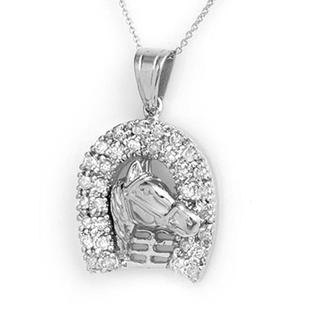 1.25 ctw VS/SI Diamond Pendant 14K White Gold - REF-129X3R - SKU:14427