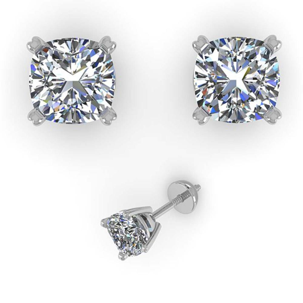 1.00 ctw VS/SI Cushion Diamond Stud Earrings 18K Rose Gold - REF-148W5H - SKU:32285