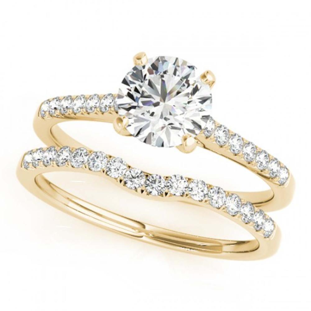 1.07 ctw VS/SI Diamond 2pc Wedding Set 14K Yellow Gold - REF-147F8N - SKU:31741