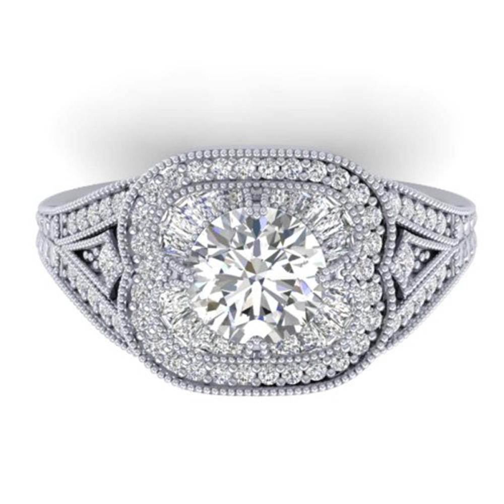 1.95 ctw VS/SI Diamond Art Deco Ring 14K White Gold - REF-368W9H - SKU:30504