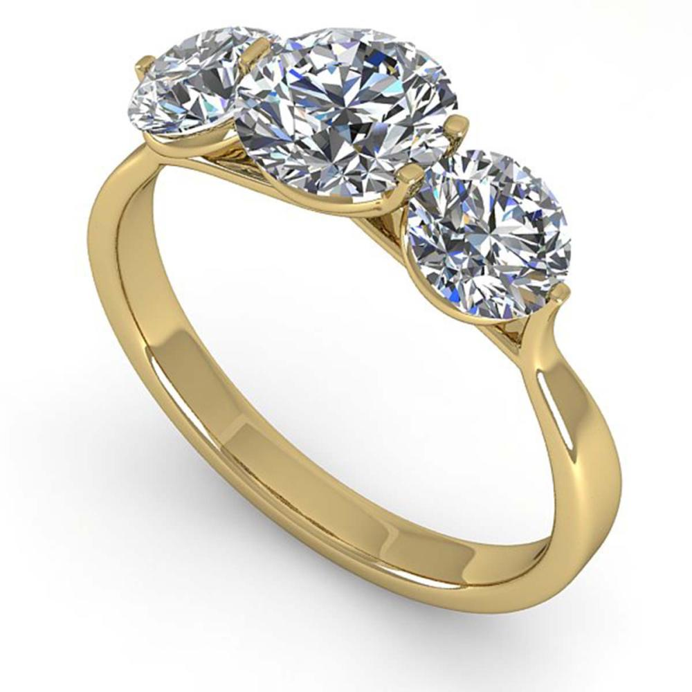 2 ctw Past Present Future VS/SI Diamond Ring Martini 18K Yellow Gold - REF-408K6W - SKU:32257