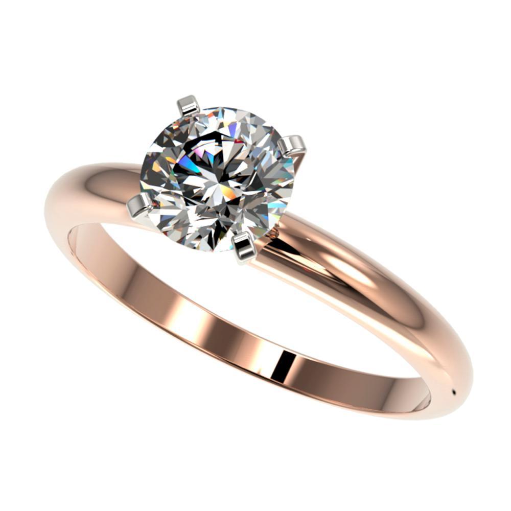 1.28 ctw H-SI/I Diamond Ring 10K Rose Gold - REF-240R2K - SKU:36427