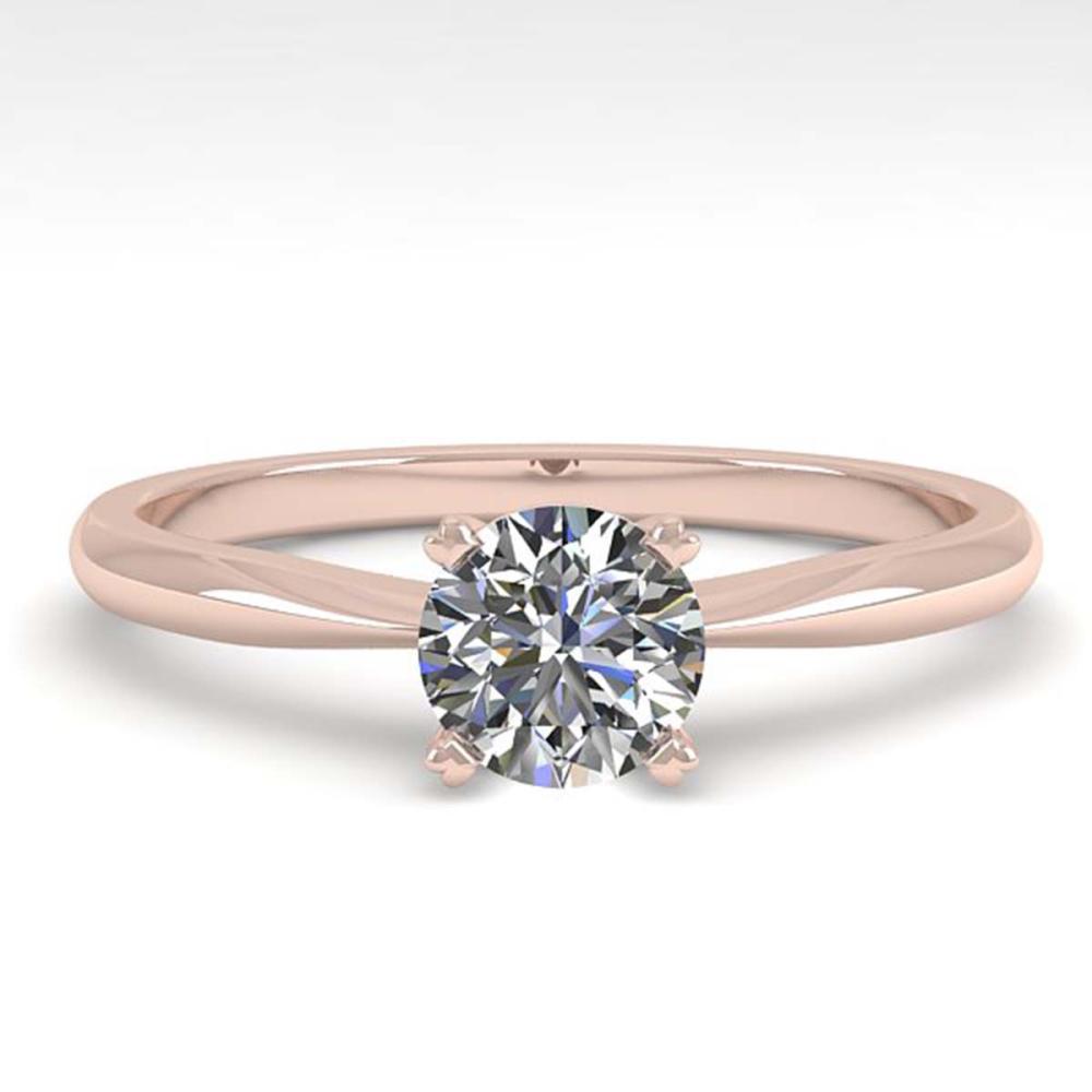 0.50 ctw VS/SI Diamond Ring 14K Rose Gold - REF-84Y2X - SKU:38445