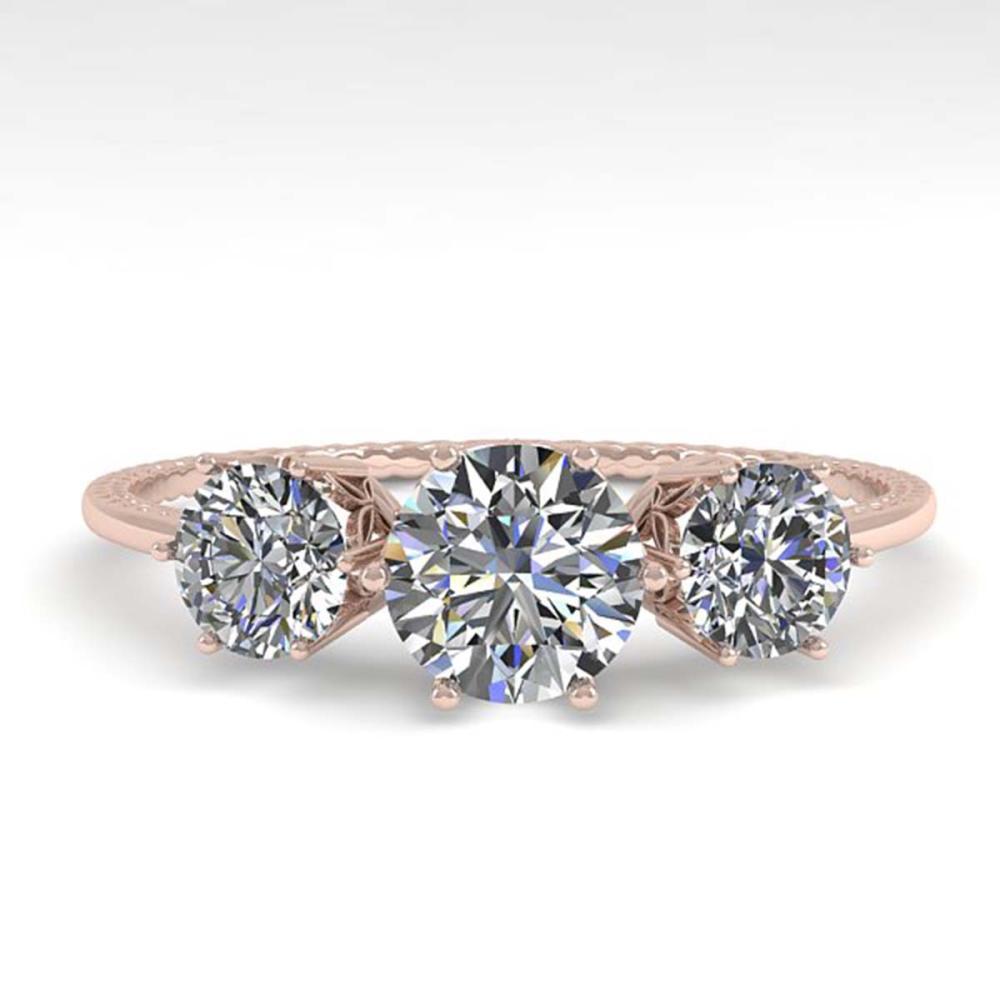 1 ctw Past Present Future VS/SI Diamond Ring 18K Rose Gold - REF-129H9M - SKU:35903