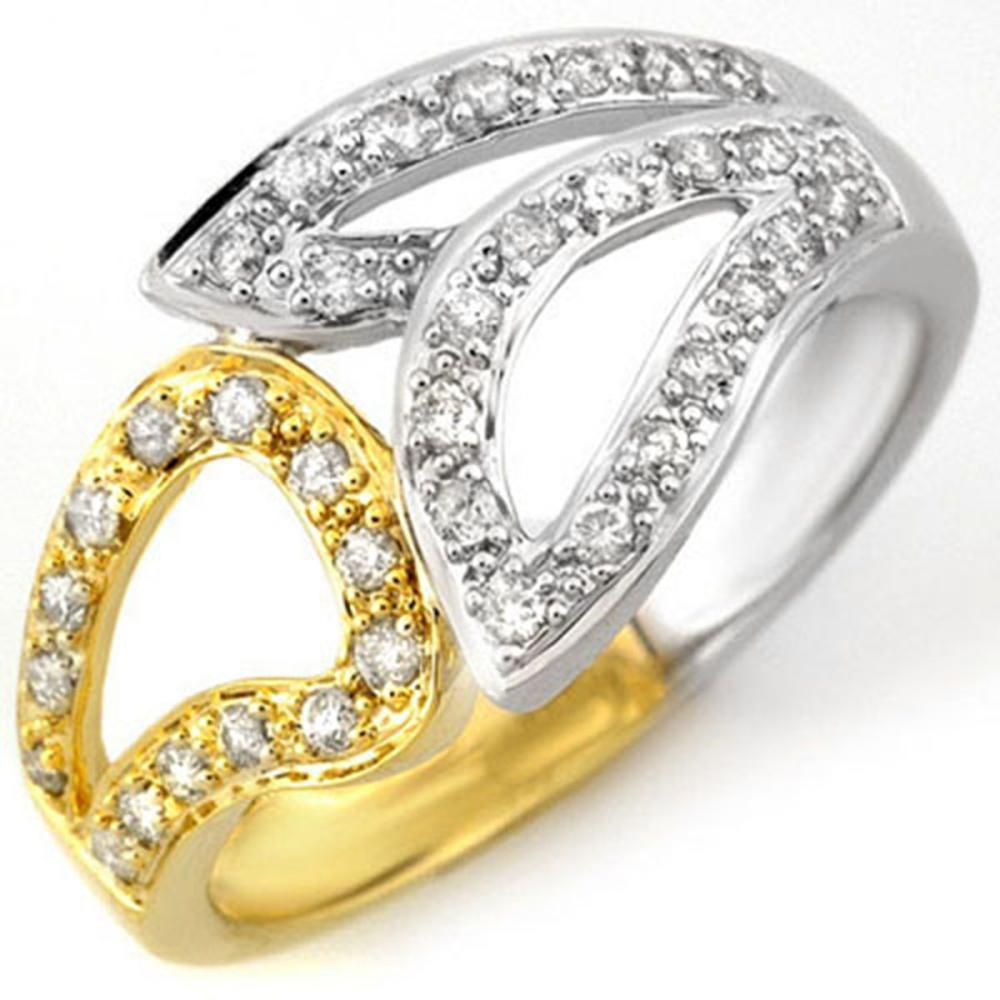 0.33 ctw VS/SI Diamond Ring 10K 2-Tone Gold - REF-40K9W - SKU:10778