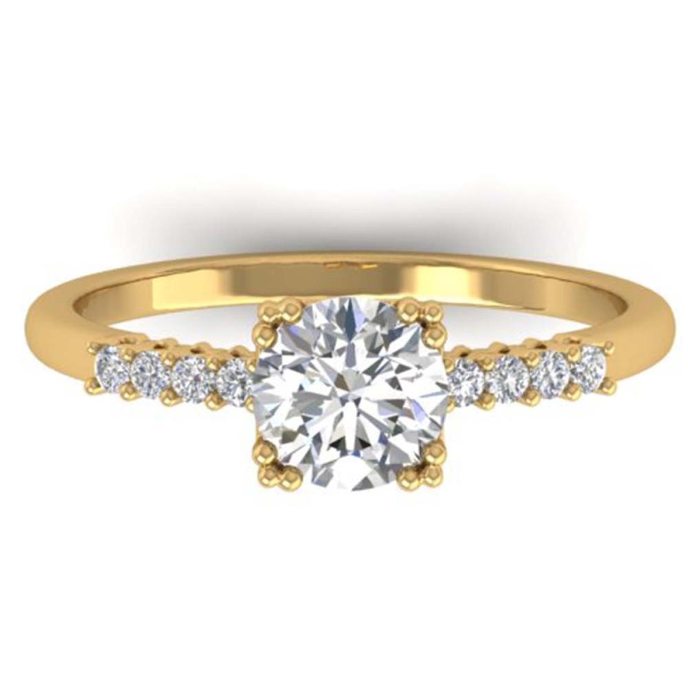 0.93 ctw VS/SI Diamond Art Deco Ring 14K Yellow Gold - REF-171A3V - SKU:30458