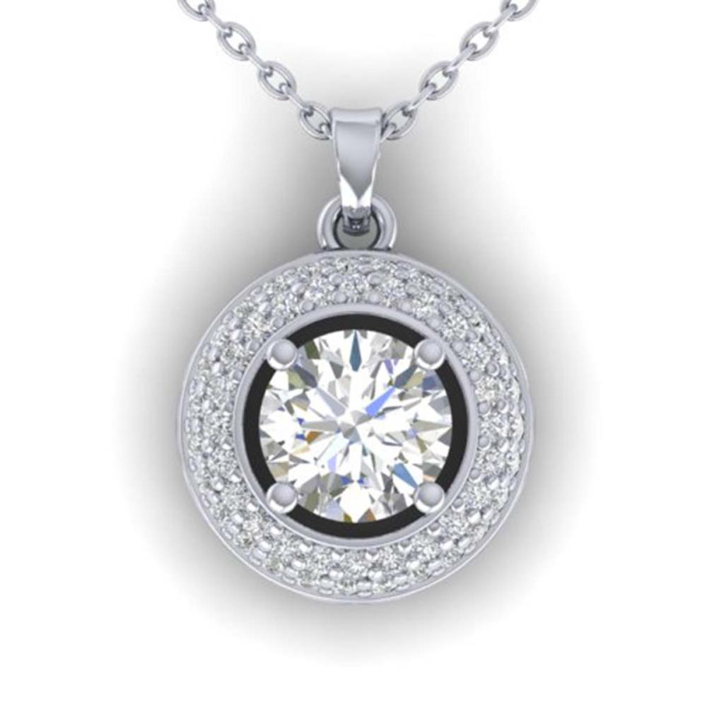 1.10 ctw VS/SI Diamond Stud Necklace 14K White Gold - REF-180K2W - SKU:30492