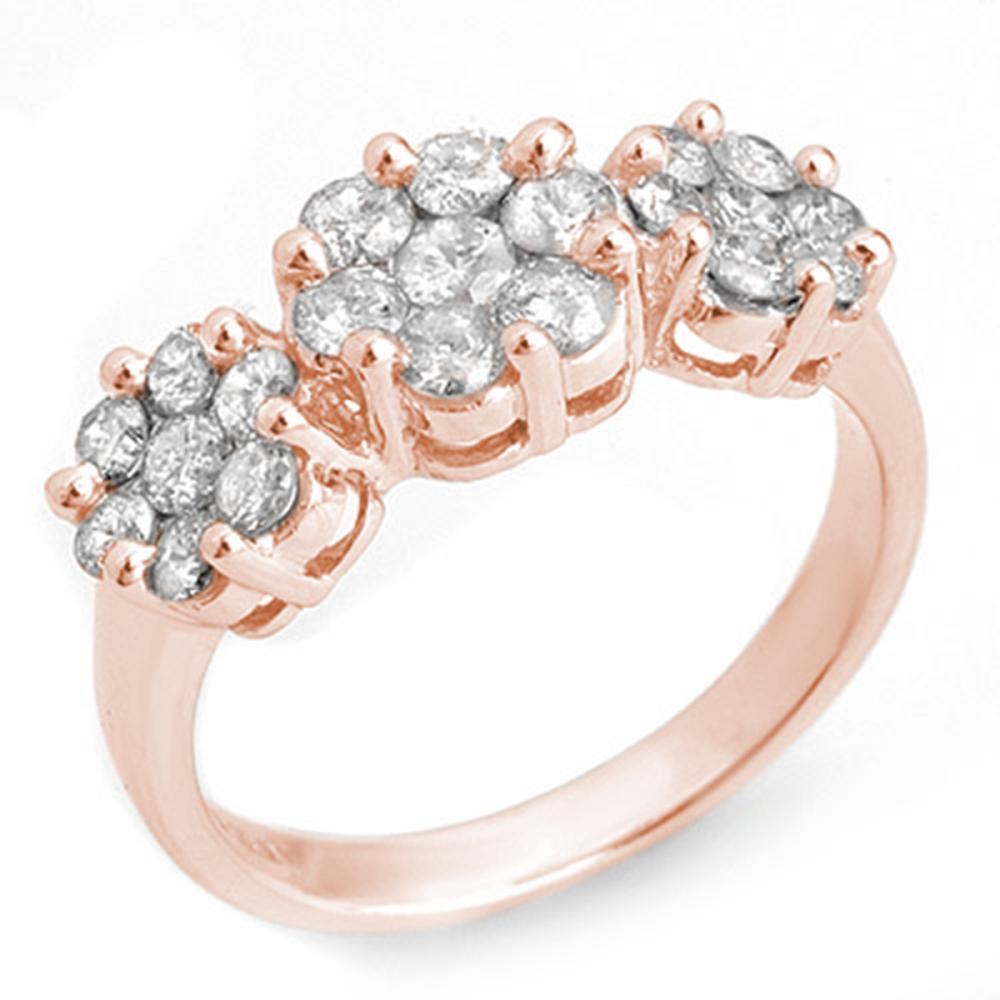 1.25 ctw VS/SI Diamond Ring 14K Rose Gold - REF-92Y7X - SKU:10211