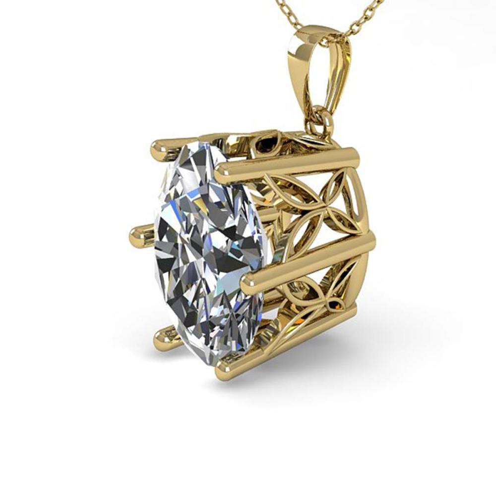 1 ctw VS/SI Oval Diamond Solitaire Necklace 18K Yellow Gold - REF-279X2R - SKU:35866