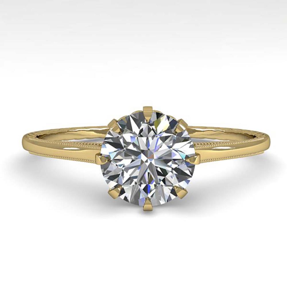 1.01 ctw VS/SI Diamond Ring 18K Yellow Gold - REF-315V2Y - SKU:35743
