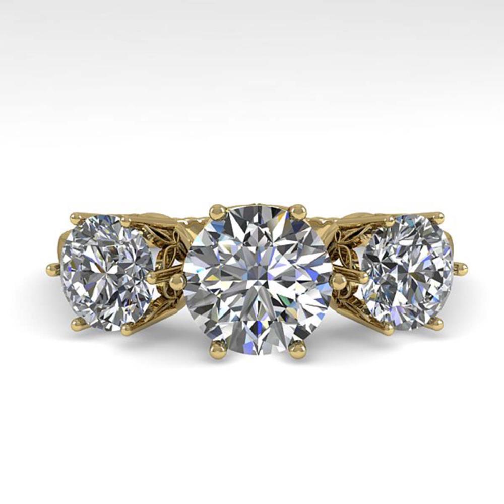 2 ctw Past Present Future VS/SI Diamond Ring 18K Yellow Gold - REF-414H2M - SKU:35911