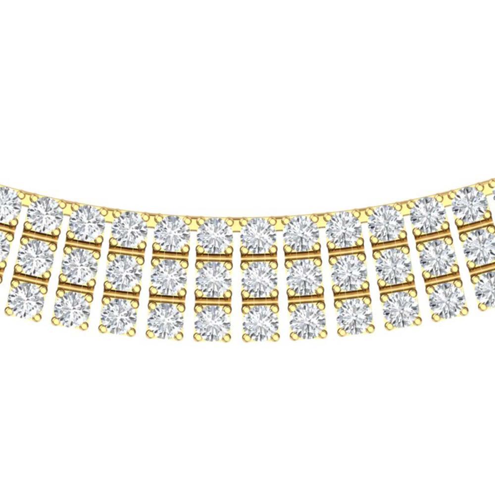 30 ctw SI/I Diamond Necklace 18K Yellow Gold - REF-1845K2W - SKU:39946